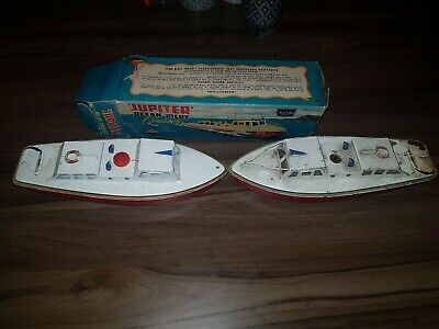Sutcliffe clockwork boat, boxed, Jupiter Ocean Pilot Cruiser x2 for sale  Shipping to South Africa