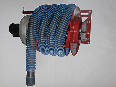 Vehicle Exhaust Extraction Reel System W Blower And High Temperature Hose