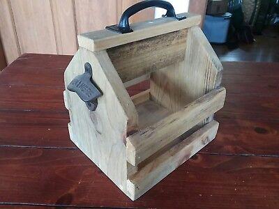 Wooden Six Pack Holder (Wooden Six Pack Holder Made In Maine! Primitive Rustic Cabin Lodge)
