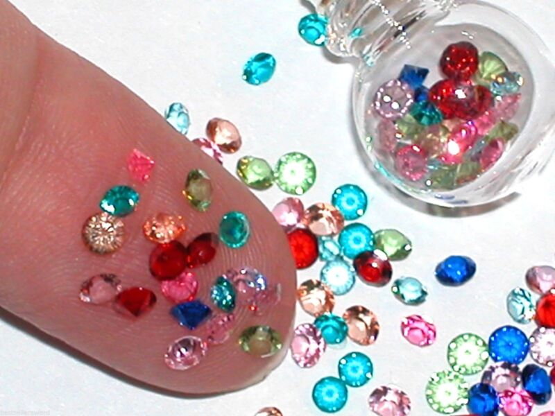 25pc.Fun tiny little Crystals rhinestone gems for bottles sold separate 2.3mm mx