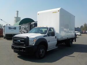 2013 Ford F-550 14 Foot Dually Diesel High Roof Cube Van with Po