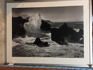 Black and white Wave Print