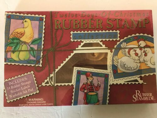 Rubber Stampede 12 Days Of Christmas 14 Rubber Stamps Labels