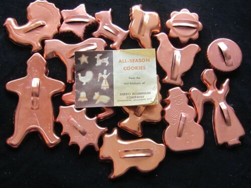 Vintage Mirro All Season Cookie Cutters and Recipe Book