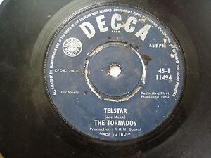 THE-TORNADOS-45-F-11494-BLUE-RARE-SINGLE-7-45-RPM-INDIA-INDIAN-VG