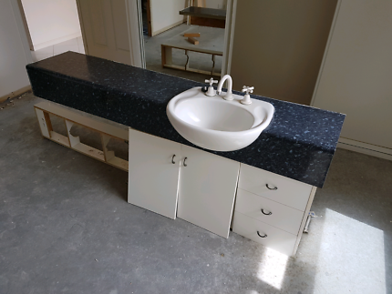 Laminate bathroom vanity  benchtop