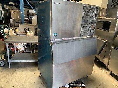 Hoshizaki Km-1301sah 1300lb. Air Cooled Ice Maker Machine With Bin Very Nice