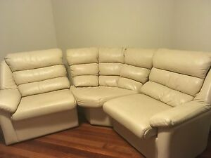 3 seater leather lounge Kingsley Joondalup Area Preview