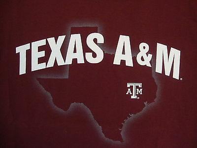 NCAA Texas A&M Aggies College University Fan School Student Maroon T Shirt M
