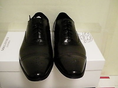 Versace collection casual shoes leather black size 41 euro new with box