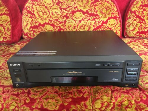 VTG Sony MDP-750 Auto LaserDisc Player Sony Laser Disc Double Sided RARE TESTED