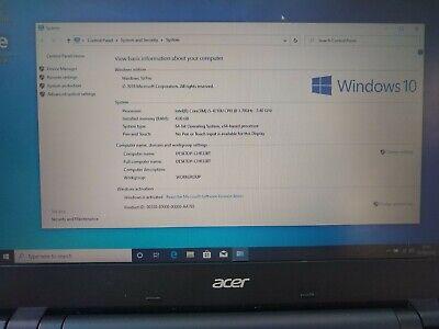 "Acer Travelmate 15.6"" P246 laptop  Intel Core i3 4Gb RAM 500Gb HDD Windows Pro"