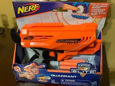 Nerf N-Strike Elite Quadrant Outdoors Dart Gun Soft Darts BRAND NEW!