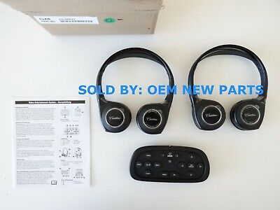2014-2016 Cadillac Escalade ESV Wireless Headphones Blue Ray DVD Remote KIT OEM