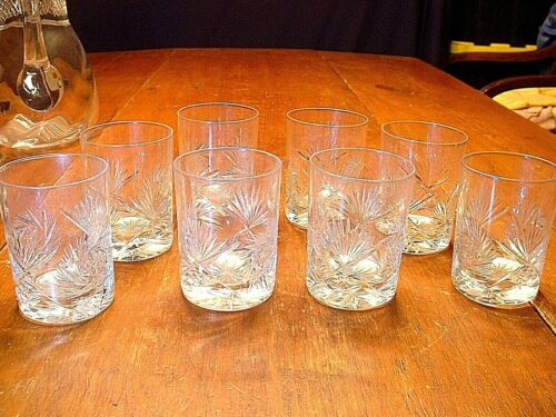 Set of 8 Wonderful ABP Brilliant Period Cut Glass Tumblers
