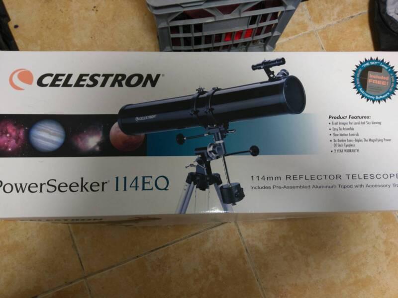 Celestron powerseeker 114eq telescope toys outdoor gumtree