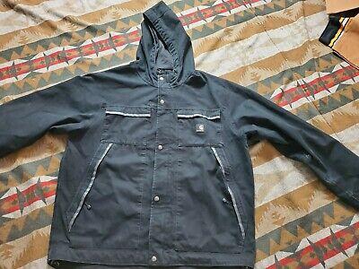 Carhartt Ketchikan Cotton Canvas Jacket Men Coat J317 Black XL-T