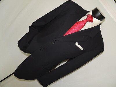 Giorgio Armani Mani men's Blue 3 button 100% wool sports jacket coat size 42 (Canada Armani)