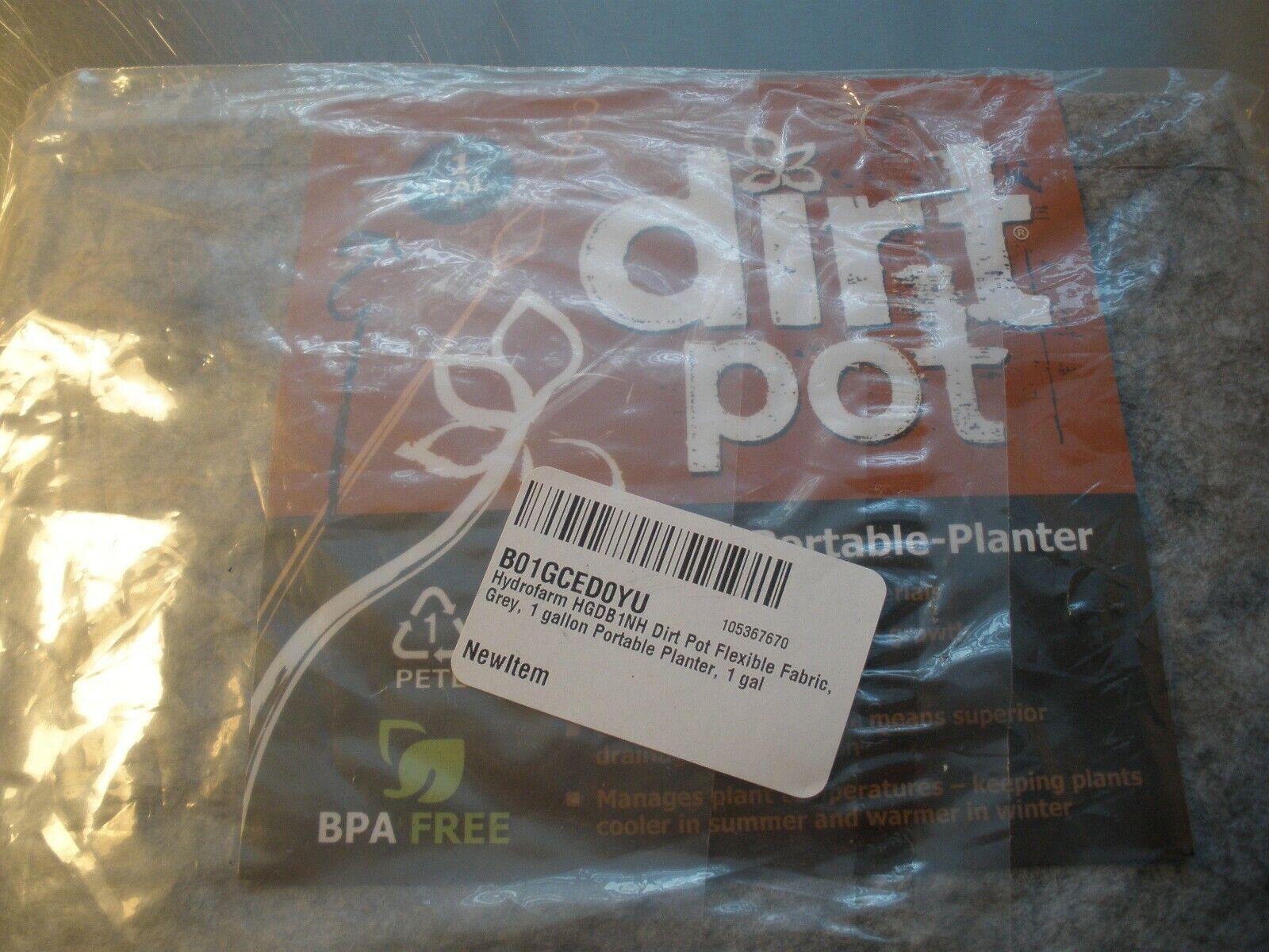 Hydrofarm HGDB Dirt Pot Planters-1 Gallon-New