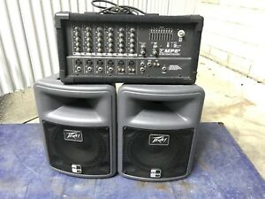 Yorkville MP6d mixer and Peavey PR10 speakers