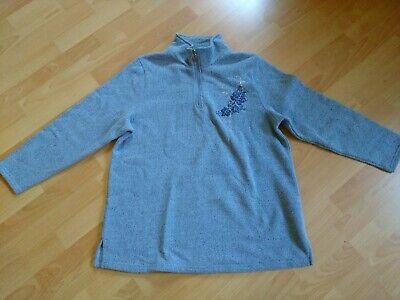 Damen Pullover Gr. 48 m. collection Blauton mit Applikation Blau Damen Pullover
