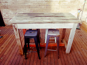 """""""Timbermill"""" custom industrial table - RRP $2000 Queens Park Eastern Suburbs Preview"""