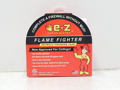 E-z Taping Systems Flame Fighter Drywall Tape W Knife 250 Roll H9-1018