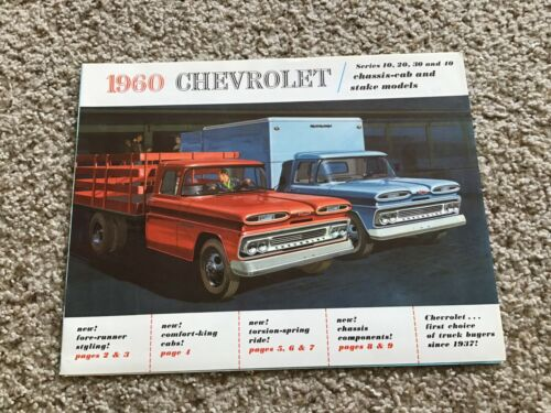 1960  Chevrolet trucks, Chassis-cab and stake models sales literature.