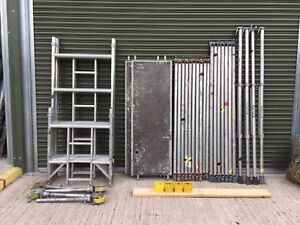 6.2m Boss Youngman Aluminium Scaffold Tower Fully Complete Inc Vat