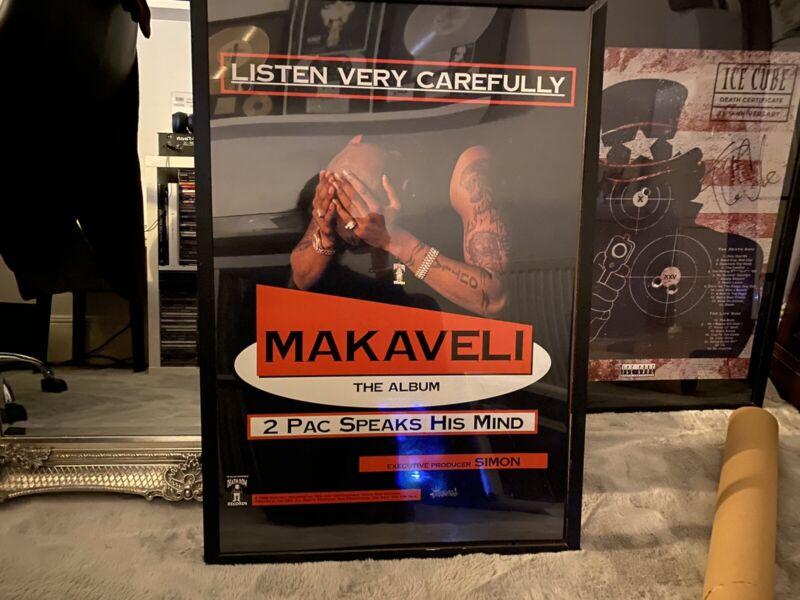 2Pac Makaveli Death Row Records Promo Poster Ultra Rare Makaveli 2pac Rare