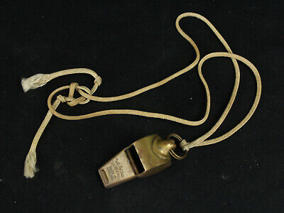 Vintage Acme Thunderer Whistle England Military US Army Brass Police Lifeguard