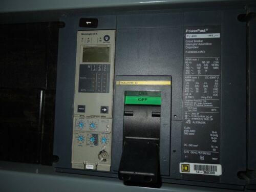 Square D I-line Powerpact Pj400 Breaker Pja36040u44ae1 400a 3p 600v 5.0a Trip