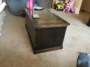 Solid maple blanket box/ toy box