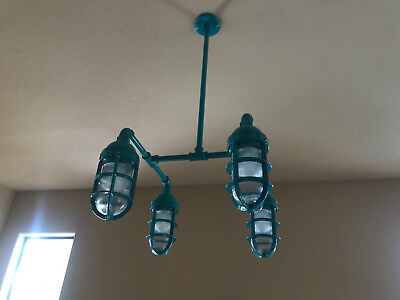 Barn Light Electric Company LED Dining Room Chandelier Teal