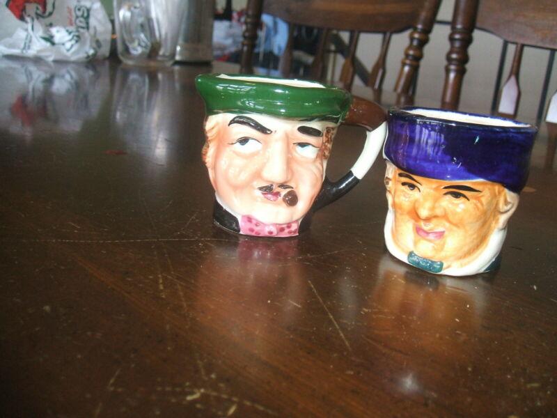 Baltimore Maryland Souvenir  Creamer and Sugar Bowl Toby Mugs Marked on bottom