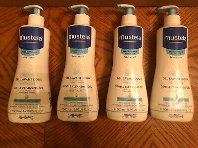 Mustela Baby Hair & Body Gentle Cleansing Gel 16.90oz - Normal Skin (4 Pack)