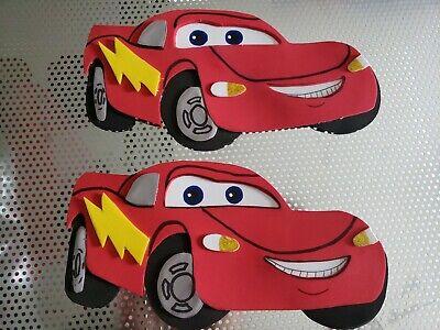 Set of 2 lightning Mcqueen Cars Foam figures for centerpiece decoration, topper ](Lightning Mcqueen Party Decorations)