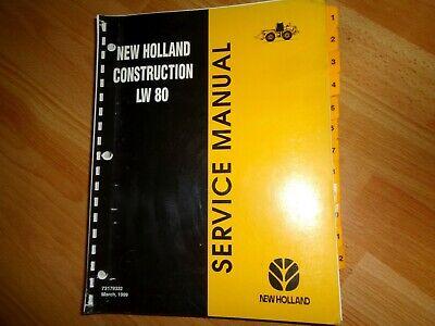New Holland Lw80 Wheel Loader Factory Service Repair Manual Oem
