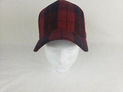 Mens Red Buffalo Plaid Baseball Hat Cap Adjustable Buffalo Plaid Hat