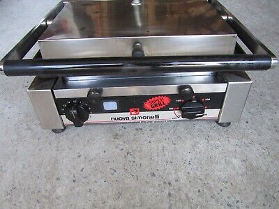 Nuova Simonelli Panini Grill With Flat Plates P1l - Tested Works Great