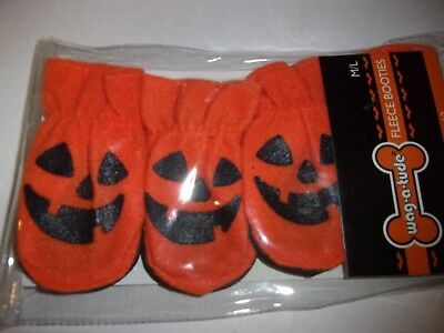 Pumpkin Fleece Booties Halloween Dog XS/S M/L puppy new costume pet - A Halloween Puppy