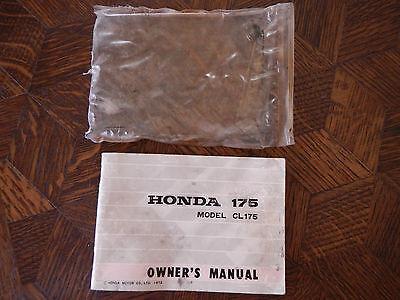 1972 HONDA CL175 K6 ORIGINAL OEM NOS OWNER'S DRIVER'S MANUAL