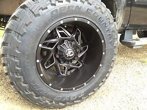 """4 37"""" Toyo MT's Mounted On 20"""" Dropstar 12.5 -44 Rims BRAND NEW"""