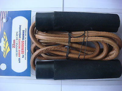 JOB LOT 5 X WEIGHTED LEATHER SKIPPING ROPES