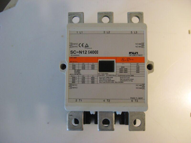 (H5) FUJI Electric Contactor Motor Starter SC-N12 (400) 30-day Warranty