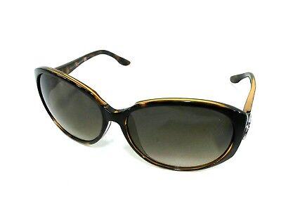 Auth GUCCI Double G GG3174 Dark Brown Plastic Sunglasses