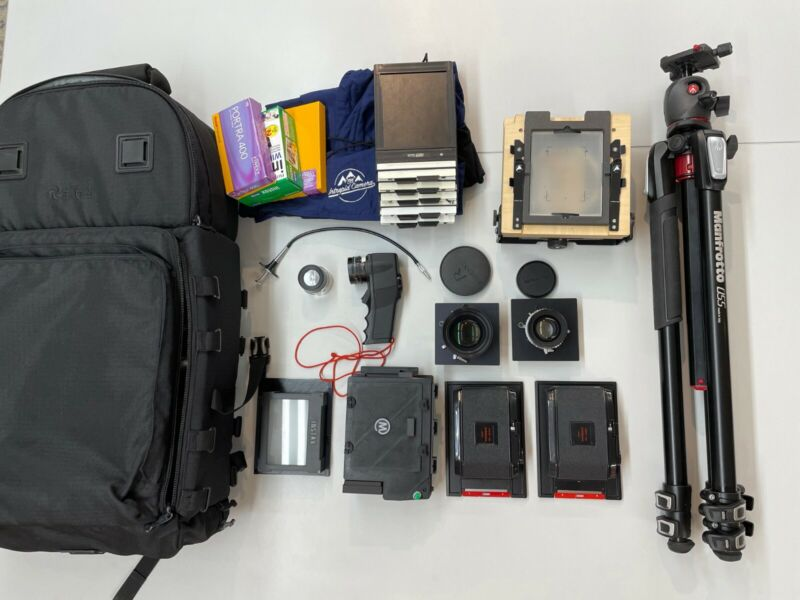 LARGE FORMAT PHOTOGRAPHY KIT 4x5 - Professional set with lots of additions