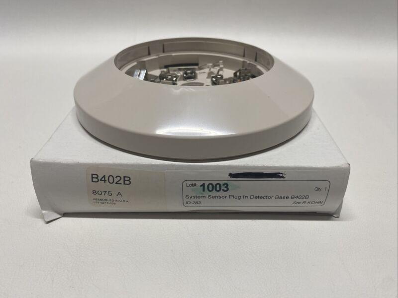 NEW System Sensor B402B Detector Base