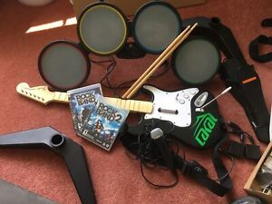 Rock Band 1 & 2 (includes instruments)