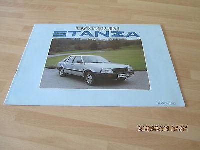Datsun Stanza Brochure 1982